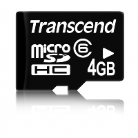Карта памяти micro SDHC 4Gb class 6 Transcend No box & adapter (TS4GUSDC6)
