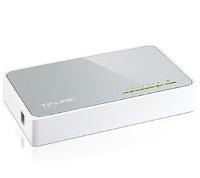 Коммутатор TP-Link TL-SF1008D, 8-port 10/100M mini Desktop Switch, 8 10/100M RJ45 ports, Plastic case