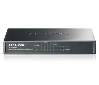 Коммутатор TP-Link TL-SG1008P, 8-Port Gigabit Desktop PoE Switch, 8 Gigabit RJ45 ports including 4 PoE ports, steel case