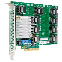 Плата расширения HP 727250-B21, 12Gb SAS Expander Card SFF (9P mSAS(SFF8087) 2P to controllers, 7P to drive cage, full cables kit) for DL380 Gen9