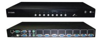 Переключатель KVM D-Link DKVM-IP8/T1C, 8-port KVM over IP Switch with VGA and USB ports.Remote control up to 8 of server over LAN or Internet, 1 x 10/100Base-TX port, 1 x RS232 port, 2 x USB 2.0 A type port for connec