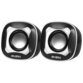 Колонки Sven 170 Black White USB, 2.0, мощность 2x2,5 Вт(RMS)
