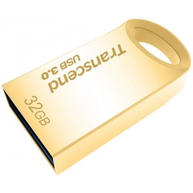 Накопитель 32GB USB Drive <USB 3.0> Transcend 710, Gold Plated (TS32GJF710G)