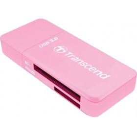 КартридерTranscend All in1 Multi Card Reader, Pink