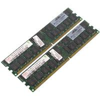 Модуль памяти HP 4GB Reg PC2-5300 DDR2 2x2GB dual rank memory kit (DL385G2, 585G2, BL465c)