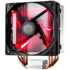Вентилятор CPU Fan Hyper 212 LED (RR-212L-16PR-R1) <retail, для Intel и AMD,TDP 180 Вт, 4 heat pipe, 4 пин, PWM, 600-1600 об/м, 9-31dBA, 24.9-66.3 CFM, Long Life Sleeve bearing, LED>