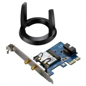 Адаптер ASUS WiFi Adapter PCI-E PCE-AC55BT (PCI-Ex1, Dual-band (2.4GHz/5GHz), WLAN 1.2Gbps, 802.11ac, +Bluetooth 4.0) 2x ext Antenna