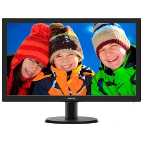 "Монитор 23,6"" Philips 243V5QHSBA 1920x1080 MVA LED 16:9 8ms VGA, DVI, HDMI 10M:1 178/178 250cd Silver/Black"