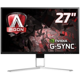 "Монитор 27"" AOC AGON AG271QG Black-Red с поворотом экрана (IPS, LED, 2560x1440, 165Hz, 4 ms, 178°/178°, 350 cd/m, 50M:1, +HDMI, +DisplayPort, +4xUSB, +MM, NVIDIA G-SYNC)"