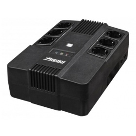 ИБП POWERMAN Brick 800, line-interactive, 800VA, 480W, 3 eurosockets with backup power, 3 eurosockets with surge protection RJ45 / RJ11, battery 12V 9Ah 1 pc., 293mm x 202mm x 93mm, 5.2 kg.