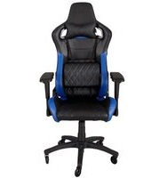 Игровое кресло Corsair Gaming™ T1 RACE, Gaming Chair, High Back Desk and Office Chair, Black/Blue (CF-9010004-WW)