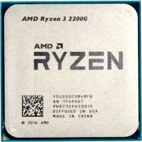Процессор AMD Socket AM4 Ryzen 3 2200G (3.70GHz/6Mb) RX Vega Graphics tray (YD2200C5M4MFB)