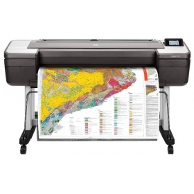 "Плоттер HP DesignJet T1700dr (W6B56A) (44"""",2400x1200dpi, 26spp(A1), 128Gb(virtual), HDD500Gb, host USB type-A/GigEth,stand,sheet feed,2 rollfeed,autocutter, TouchScreen, 6 cartridges/3 heads,2y warr)"