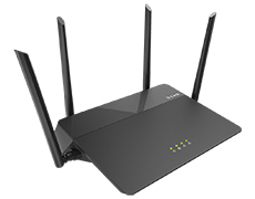 Маршрутизатор D-Link DIR-878/RU/R1A, Wireless AC1900 3x3 MU-MIMO Dual-band Gigabit Router with 1 10/100/1000Base-T WAN port, 4 10/100/1000Base-T LAN ports.802.11b/g/n compatible, 802.11AC up to 1300Mbps, 3x3 MU-MI
