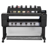 "Плоттер HP DesignJet T1530 PS (L2Y24B) (36"",2400x1200dpi, 96Gb(virtual), 500Gb Enc.HDD, GigEth, stand,media bin,output tray,sheetfeed,rollfeed, 2 rolls, autocutter,TouchScreen,6 cartr.,2y, PS, repl. CR357A, L2Y24A)"
