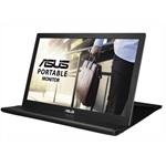 "Монитор ASUS 15.6"" MB169B+ USB-Portable Monitor, LED, 1920x1080, 14ms, 250cd/m2, 600:1, 160°/160°, USB 3.0x1, Pivot Auto-Rotate, Ultra-slim, 0.8Kg, Smart Case, Dark Grey, 90LM0183-B01170"