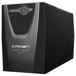 ИБП CROWN CMU-500XIEC 500VA / 240W, plastic, 1x12V / 4,5AH, sockets 3 * IEC, transformer AVR 220/230 / 240V + -25%, cable 1.2m, protection: batteries, against overload, short-circuit, input voltage filtering