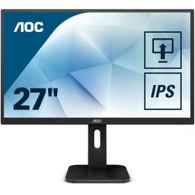 "Монитор 27"" AOC 27P1 1920x1080 IPS WLED 16:9 5ms VGA DVI HDMI DP 4*USB 3.0 1000:1 50M:1 178/178 250cd Speakers HAS Swiwel Pivot Black"