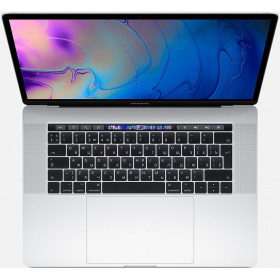 Ноутбук Apple MR962RU/A 15-inch MacBook Pro, Touch Bar: 8-gen Intel i7 Six-core 2.2(up to 4.1)GHz, 16GB, 256GB SSD, Radeon Pro 555X 4GB, Silver