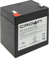 Аккумулятор CROWN CBT-12-4.5 Battery voltage 12V, capacity 4.5 A / W, dimensions (mm) 151h65h95, weight 1.5 kg, the type of terminal - the F2, type of battery - Lead-acid with suspended electrolyte gel, the service life of 6 years