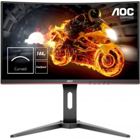 "Монитор 27"" AOC C27G1 1920x1080 VA WLED Curved 1800R 16:9 1ms VGA HDMI DP 3000:1 50M:1 178/178 250cd HAS Swiwel Black/Red"