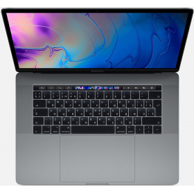 Ноутбук Apple Z0V10014S 15-inch MacBook Pro with Touch Bar - Space Gray/2.9GHz 6-core 8th-generation Intel Core i9 processor, Turbo Boost up to 4.8GHz /16GB 2400MHz DDR4 memory/1TB SSD storage/Radeon Pro 560X with 4GB of GDDR5 memory