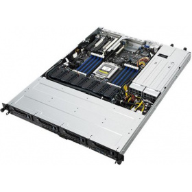 "Серверная платформа ASUS RS500A-E9-RS4-U (90SF00M1-M00180), 1U, Socket SP3, 16 x DDR4, 4 x 3.5"" SATA, 2xGigabit Ethernet (1000 Мбит/с), 770 Вт"