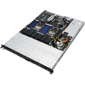 "Серверная платформа ASUS RS500-E9-PS4 (90SF00N1-M00240), 1U, 2 x LGA3647, Intel C621, 16 x DDR4, 4 x 3.5"" SATA, 2xGigabit Ethernet (1000 Мбит/с), 650 Вт"