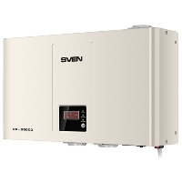 Стабилизатор SVEN VR-S3000 (SV-016531), Relay, 1800W, 3000VA, 140-275v, 3 euro outlets (CEE7/4), white