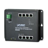 Коммутатор Planet IP30 (WGS-4215-8T2S), IPv6/IPv4, 8-Port 1000TP + 2-Port 100/1000F SFP Wall-mount Managed Ethernet Switch (-40 to 75 C), dual redundant power input on 12-48VDC / 24VAC terminal block and power jack, SNMPv3, 802.1Q VLAN, IGMP Snooping, SSL, SSH, ACL