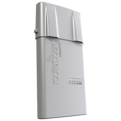 Точка доступа MikroTik RB912UAG-2HPND-OUT BaseBox 2 with 600Mhz Atheros CPU, 64MB RAM, 1xGigabit LAN, USB, miniPCIe, built-in 2Ghz 802.11b/g/n 2x2 two chain wireless with two RP-SMA connectors, RouterOS L4, outdoor enclosure, POE, PS