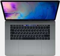 Ноутбук Apple 15-inch MacBook Pro (MV902RU/A), Touch Bar (2019), 2.6GHz 6-core 9th-gen. Intel Core i7 TB up to 4.5GHz, 16GB, 256GB SSD, Radeon Pro 555X - 4GB, Space Gray