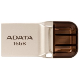 Накопитель 16GB A-DATA DashDrive UC360 OTG, USB 3.1/MicroUSB, Золотой