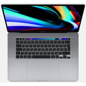 Ноутбук Apple MVVK2RU/A 16-inch MacBook Pro with Touch Bar: 2.3GHz 8-core Intel Core i9 (TB up to 4.8GHz)/ 16GB/ 1TB SSD/ AMD Radeon Pro 5500M with 4GB of GDDR6 - Space Grey