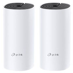 Точка доступа TP-Link Deco E4 (2-pack) AC1200 Whole-Home Mesh Wi-Fi System, Qualcomm CPU, 867Mbps at 5GHz+300Mbps at 2.4GHz, 2 10/100Mbps Ports, 2  internal antennas, MU-MIMO