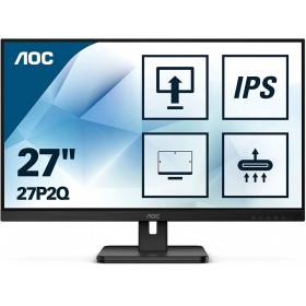 "Монитор 27"" AOC 27P2Q 1920x1080 75Hz IPS LED 16:9 4ms D-Sub DVI HDMI DP 4*USB3.2 50M:1 1000:1 178/178 250cd HAS Pivot Tilt Swivel Speakers Black"