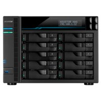 Сетевое хранилище ASUSTOR AS7110T 10-Bay NAS/Media player/Intel Xeon E-2224 3.4GHz up to 4.6GHz(Quad-Core), 8GB SO-DIMM DDR4, noHDD(HDD,SSD),/10x1GbE+3x2,5Gbe(LAN)/3xUSB3.2,HDM I/M.2/4ip camera license ; 90IX01D1-BW3S1