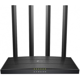 Маршрутизатор TP-Link Archer C6U AC1200 Dual-band Wi-Fi gigabit router, up to 867 Mbps at 5 GHz + up to 300 Mbps at 2.4 GHz, support for 802.11ac/n/a/b/g standards, Wi-Fi On / Off buttons, 5 Gigabit ports, 4 fixed antennas