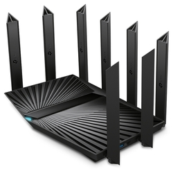 Маршрутизатор TP-Link Archer AX90 AX6600 tri-band wireless Gigabit router, 4804Mbps at 5G band1, 1201Mbps at 5G band2 and 574Mbps at 2.4G, 1*2.5G WAN/LAN port, 1*1G WAN/LAN port, 3*1G LAN ports, 1*USB 3.0 port, 1*USB 2.0 port, 8 antennas, support Homecare Pro, OneMesh, WPA3, OFDMA, 1024-QAM, HT160 and MU-MIMO, support up to 512 connected devices, easy setup and manage via Tether APP and cloud server.